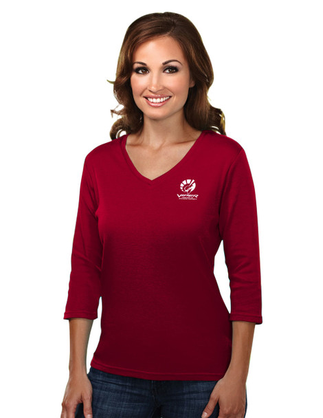 VIPER RED WOMEN'S 3/4 LENGTH SLEEVE TOP