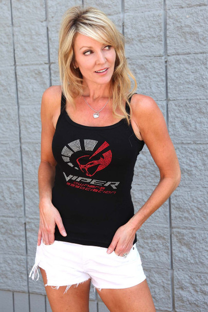 """LADIES CRYSTAL """"VIPER OWNERS ASSOCIATION"""" BLING T SHIRT"""