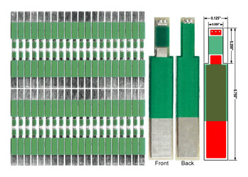 1558 - 80pc panel front surface bridgewire PWB