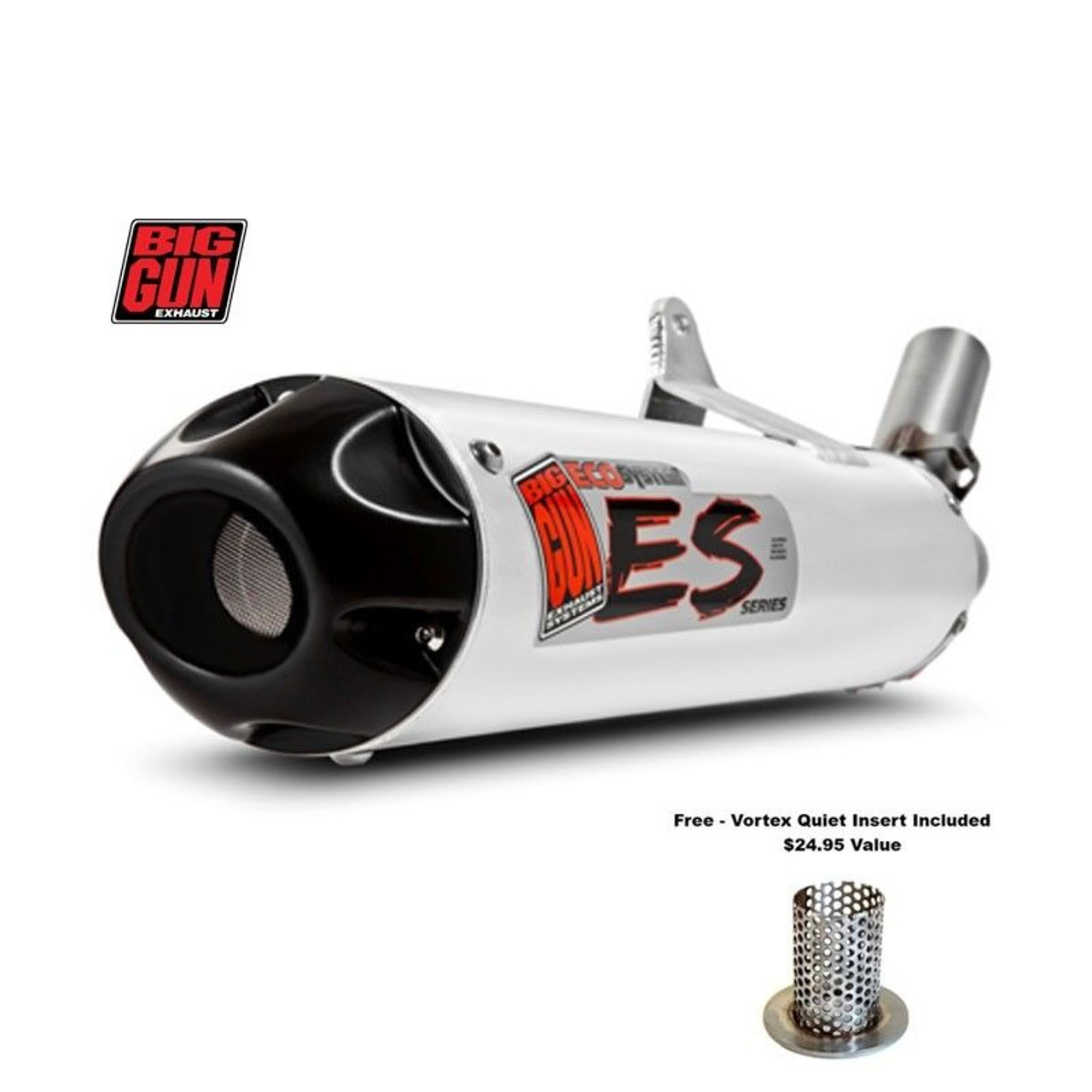 Vortex Quiet Insert Big Gun Exhaust Pipe Muffler Atv 41-E0053