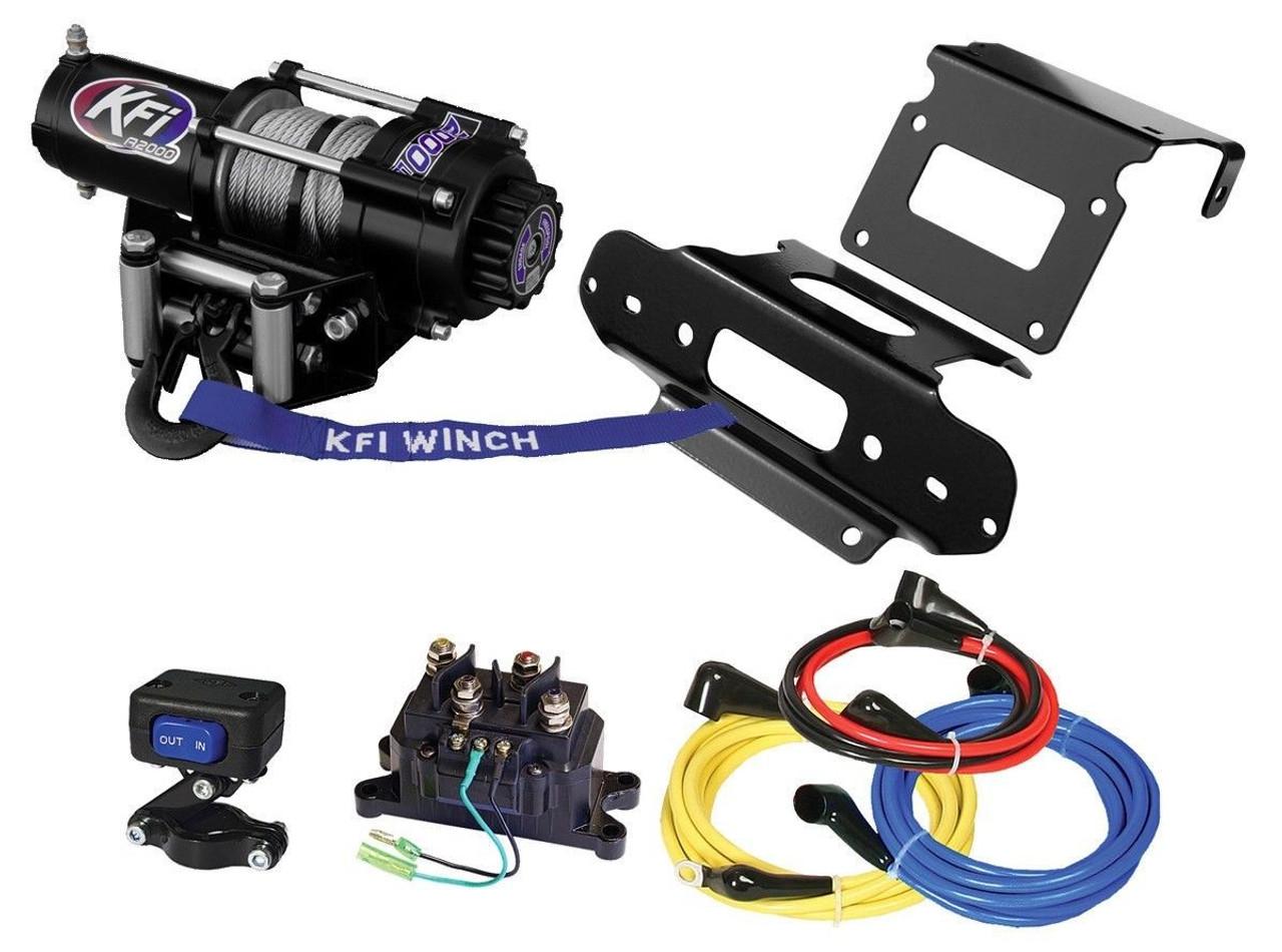 KFI 2000lb Winch with Mount Kit Complete Honda TRX420F Rancher 4x4 07-13