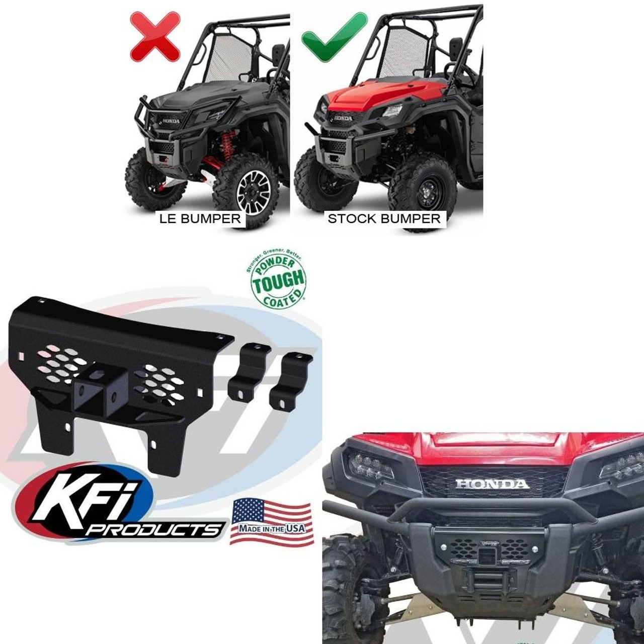 KFI Products 101285 Winch Mount for Honda Pioneer 1000