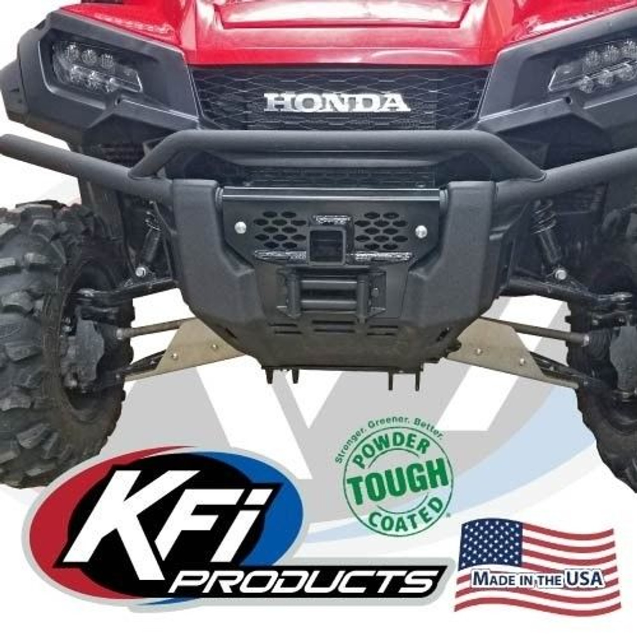Grill For Honda Pioneer 1000 101365 KFI Front Upper Receiver Tow Hitch 2/""