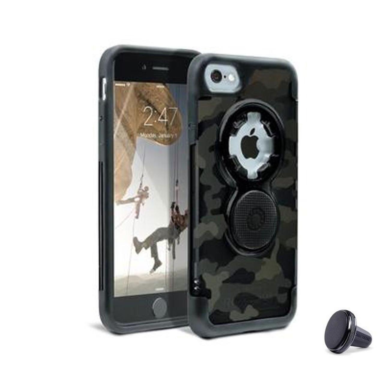 pretty nice c21f2 5c1dd RokForm iPhone 8,7 Crystal Camouflage Cell Phone Case with Car Vent Mount