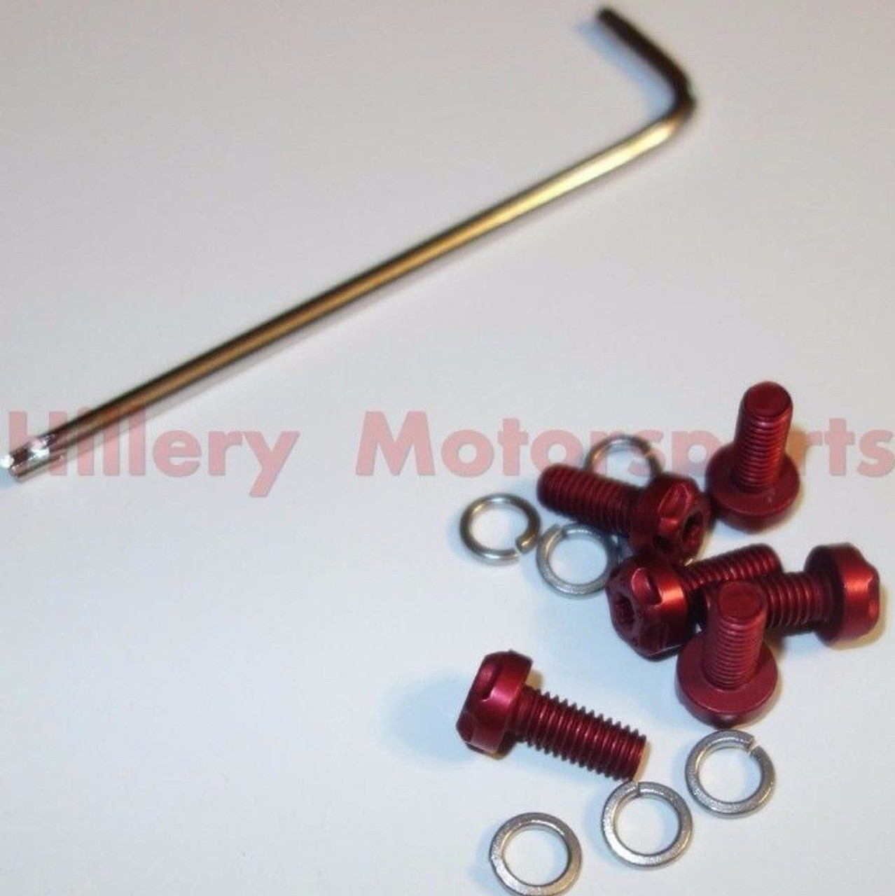 TBR Two Brothers Racing Exhaust Muffler Endcap Bolt Kit Red 005-001-R