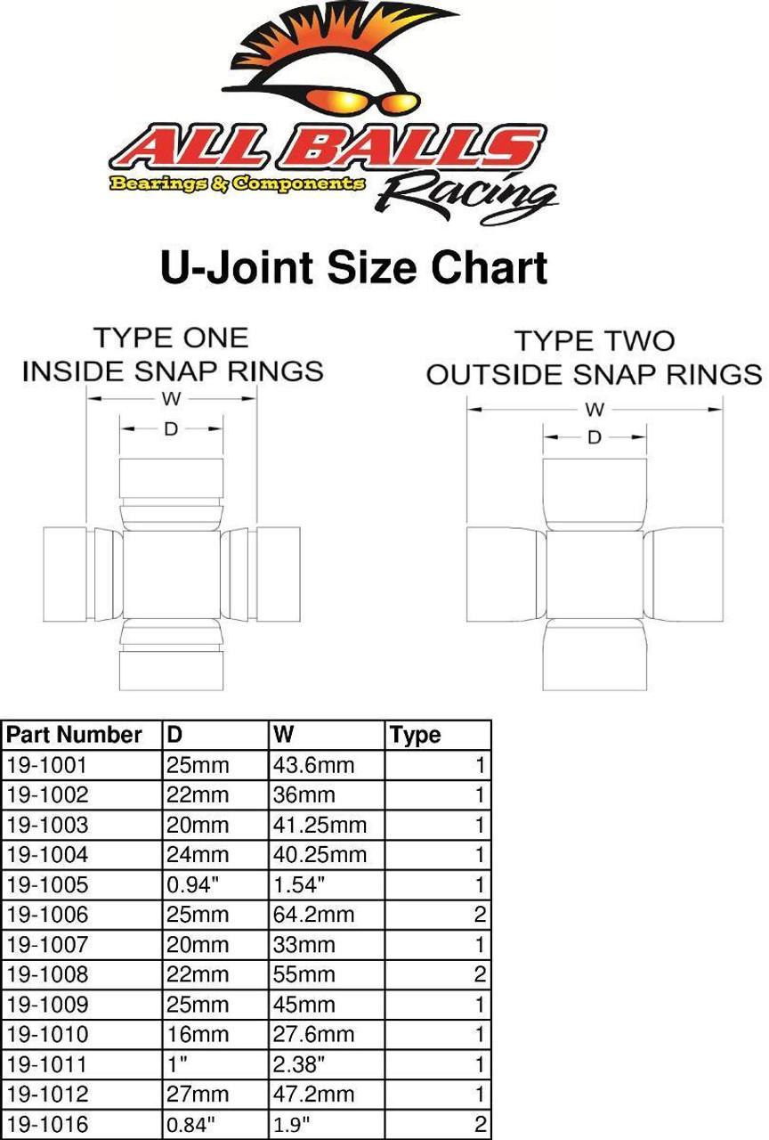 All Balls 19-1005 Universal Joint Kit For 2009 Polaris Ranger RZR 800