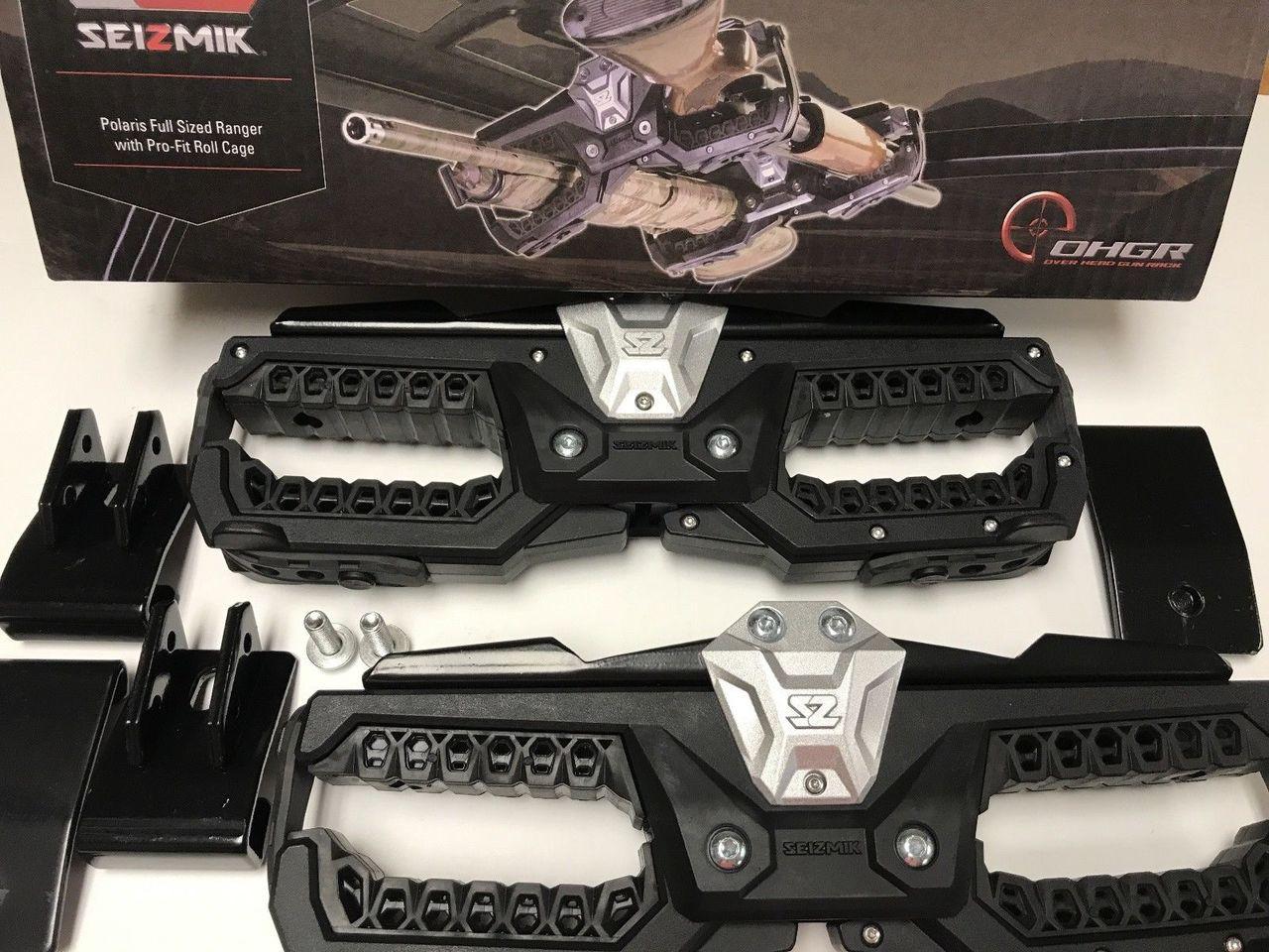 Seizmik Overhead Gun Rack 2 00 Cage Clamp Honda Pioneer 1000 16-18