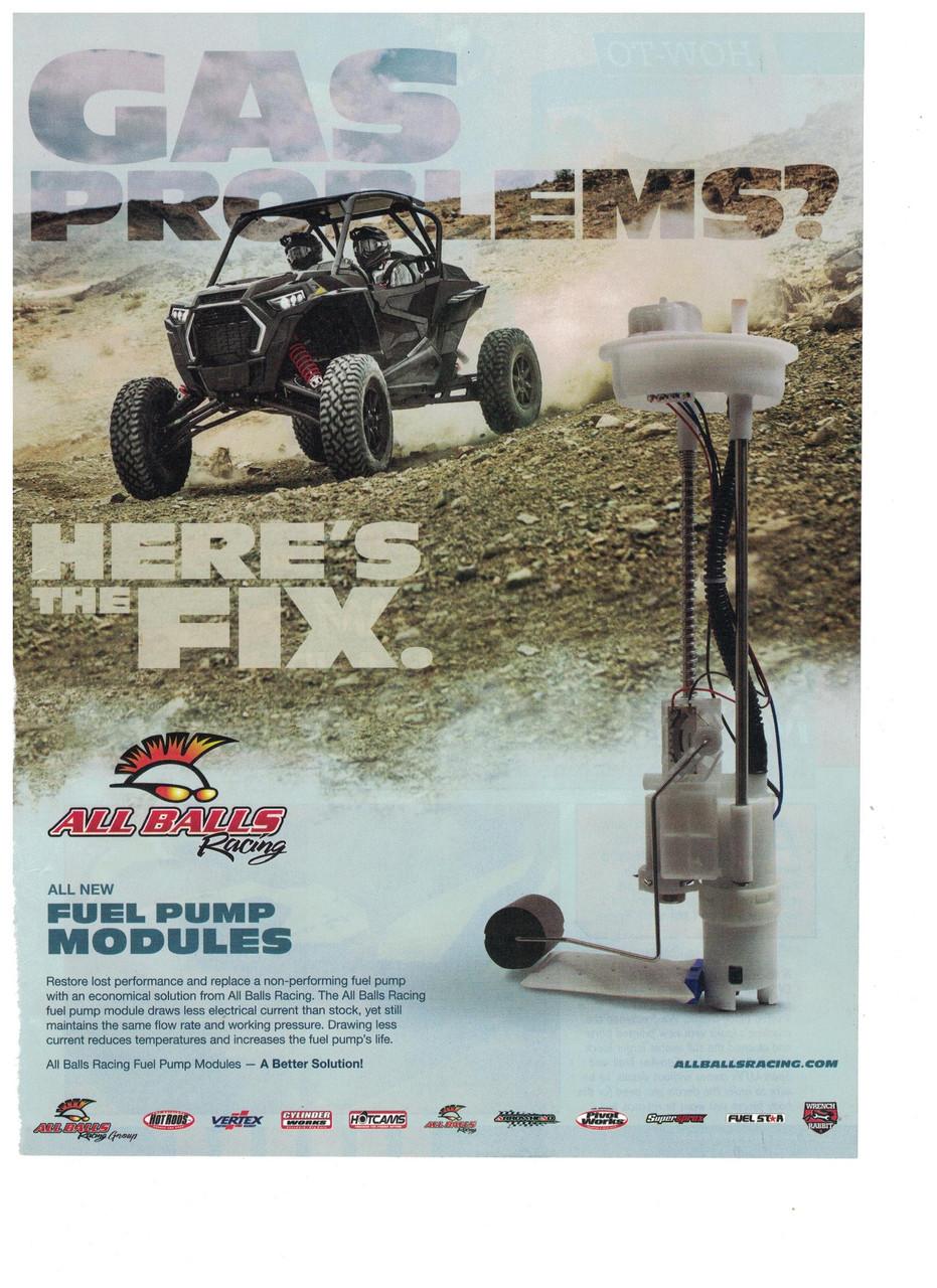 All Balls Racing Fuel Pump Rebuild Kit Polaris RZR 1000 XP EPS 2014-2019