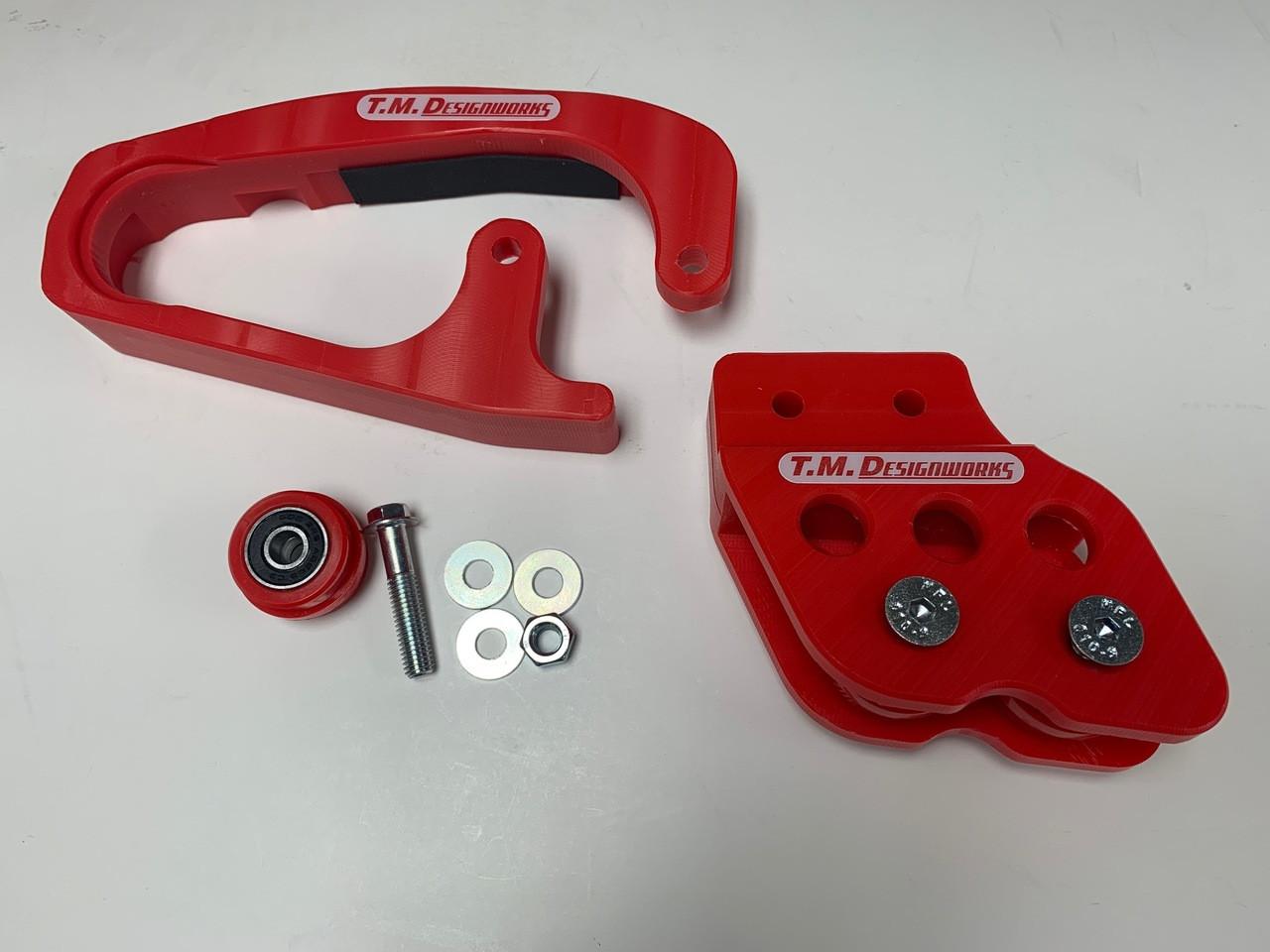 T.M Designworks Powerlip Chain Roller Red for Yamaha YFZ 450 2004-2005