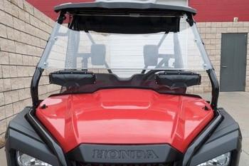 SPIKE Vented Full Hard Coated Windshield Honda Pioneer 500 15-17