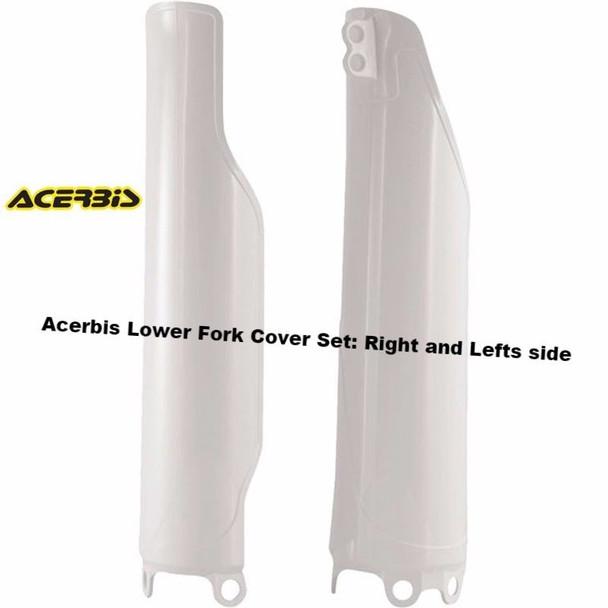 Acerbis Lower Fork Cover Set Crf250r Crf450r Crf 250 450 2004-2015