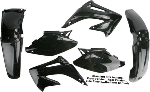 Acerbis Plastic Plastics Kit Black Kawasaki Kx250f Kx 250f 06 07 08