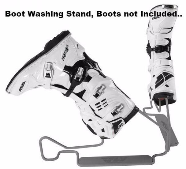 Fly Racing Motocross Dirt Bike Atv Boot Wash Stand Grey BOOT WASH-FLY