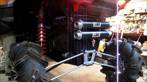 HMF Performance Dual Exhaust Polaris Rzr Xp 1000 1000Xp Rrz1000xp Black