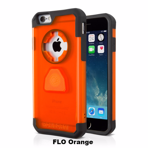 RokForm iPhone 6/6s 4.7 Crystal Case Flo Orange 302206
