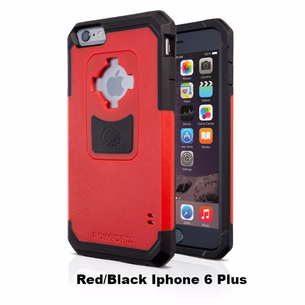 RokForm iPhone 6 Plus/6s Plus Rugged Case Red/Black 302356