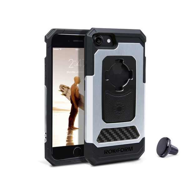 RokForm iPhone 7,8 Fuzion Pro Cell Phone Case Natural with Car Vent Mount 532422