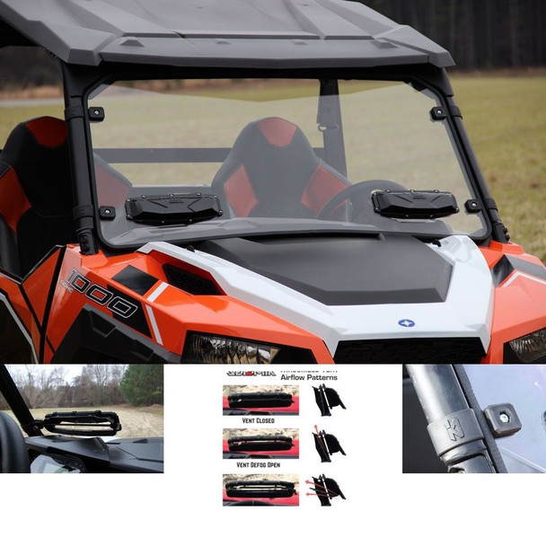 Seizmik Versa-Shield Windshield Double Hard-Poly Polaris General 2016-17