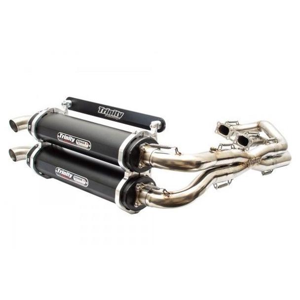 Trinity Exhaust Full Dual Muffler Polaris RZR 1000 2014-2019 TR-4119D-BK Black