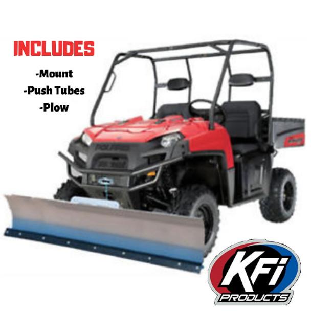 KFI UTV Snow Plow Combo Kit Midsize Polaris Ranger 500/570 2009-2018