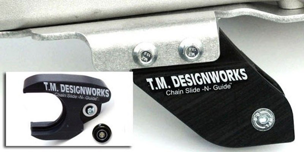 TM Designworks ATV Chain Slide-N-Guide Kit Yamaha YFZ450 06-09 Black