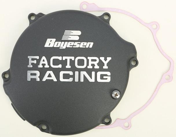 Boyesen Factory Racing Clutch Cover Black Kawasaki KX125 1994-2002 CC-11B