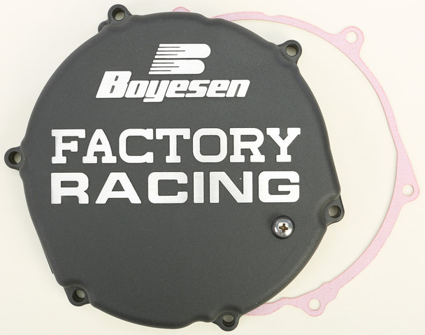 Boyesen Factory Racing Clutch Cover Black Kawasaki KX250 1993-2002 CC-12B