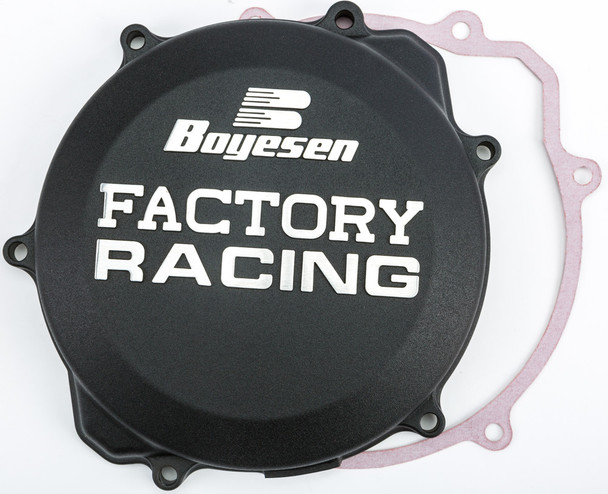 Boyesen Factory Racing Clutch Cover Black Yamaha YZ250 1999-2019 CC-32AB