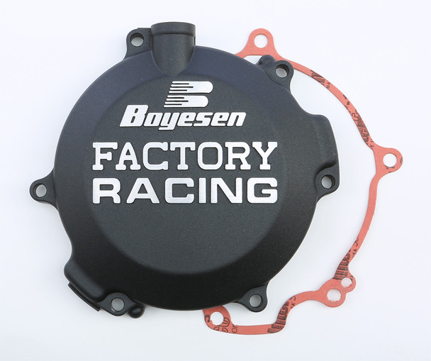 Boyesen Factory Racing Clutch Cover Black Kawasaki KX100 1998-2019 CC-10B