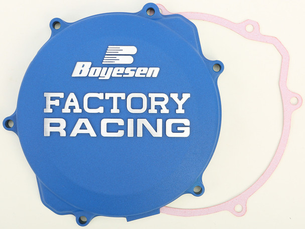 Boyesen Factory Racing Clutch Cover Blue Yamaha YZ250 1999-2019 CC-32AL