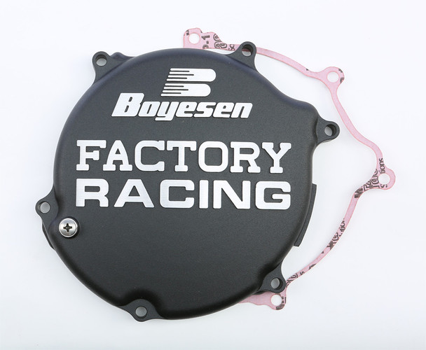 Boyesen Factory Racing Clutch Cover Black Kawasaki KX125 2003-2005 CC-11AB