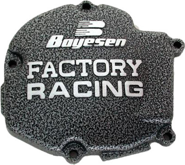 Boyesen Factory Racing Ignition Cover Black Kawasaki KX125 2003-2005 SC-11AB
