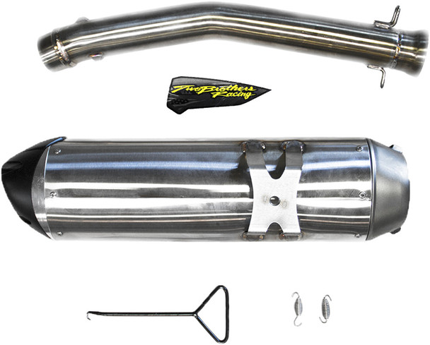 Two Brothers Racing S1R Slip-On Exhaust Stainless Steel Can-Am Ryker Rally 900 2