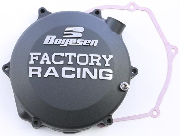 Boyesen Factory Racing Clutch Cover Black Suzuki RM-Z450 2005-2007 CC-26B
