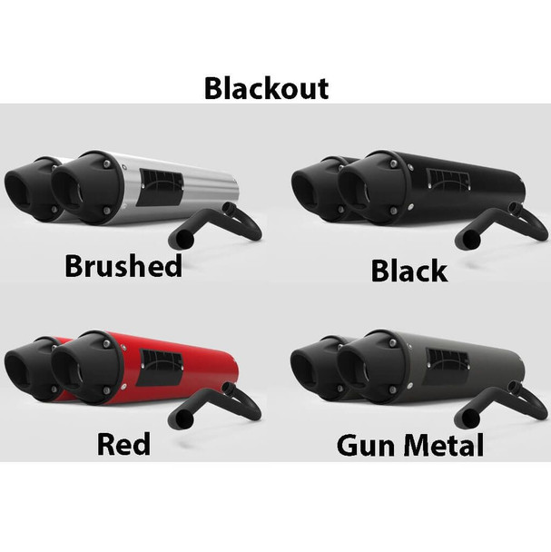 HMF Performance Dual Full System Black/Gun Metal Honda Talon 1000R/X 2019-2020