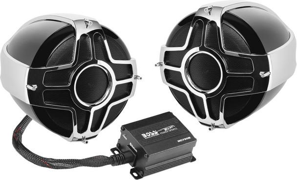 "Boss Audio 4"" Handlerbar Mount 1000W 2-Speaker System MC750B"