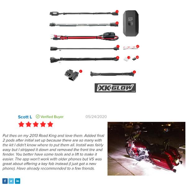 KS-MOTO-ADVANCE Road King Led Motorcycle lites