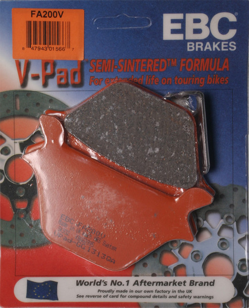 EBC Brake Pads V-Series Harley-Davidson FXD Dyna Super Glide 1995-1999 FA200V