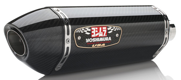 Yoshimura Exhaust Signature R-77 Slip-On SS-CF-CF Suzuki GSX-R750 2011-2018 11600E0220