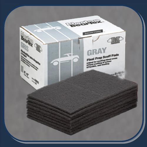 BEAR-TEX SCUFF PADS- Gray Scuff Pads 20 ct. Box (58002)