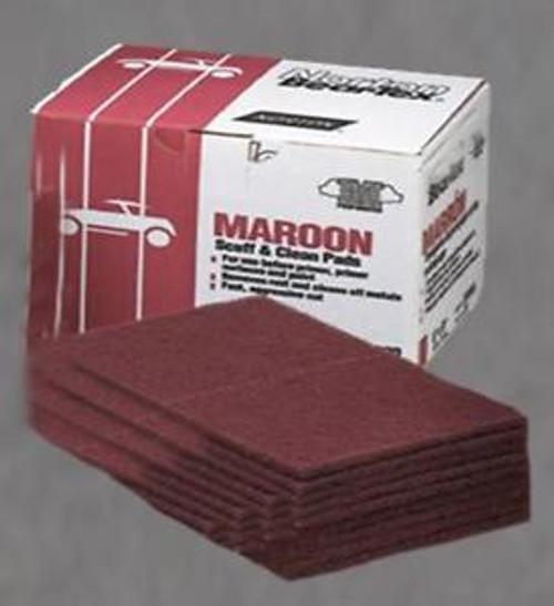 BEAR-TEX SCUFF PADS- Maroon Scuff Pads 20 ct. Box (58000)