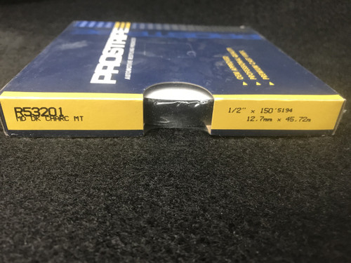 "R53201 Dark Charcoal Metallic Single Striped 1/2"" x 150 '"