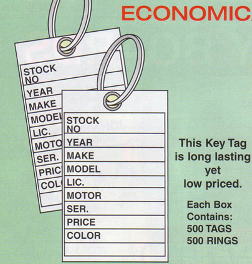 Key Tags: Traditional key tags, economical