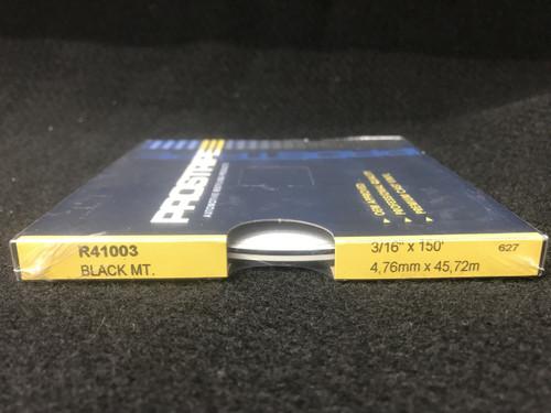 "R41003 Black Metallic Thin & Thin Single Color 3/16"" x 150'"