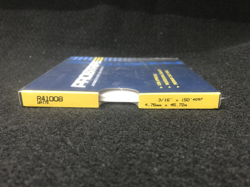 "R41008 White Thin & Thin Single Color 3/16"" x 150'"