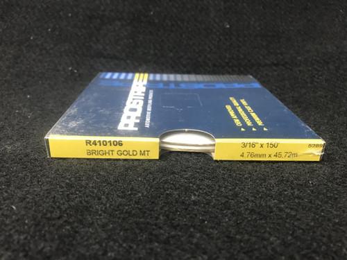 "R410106 Bright Gold Metallic Thin & Thin Single Color 3/16"" x 150"