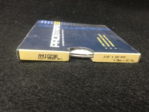 "R410236 Misty Brown Metallic Thin & Thin Single Color 3/16"" x 150"