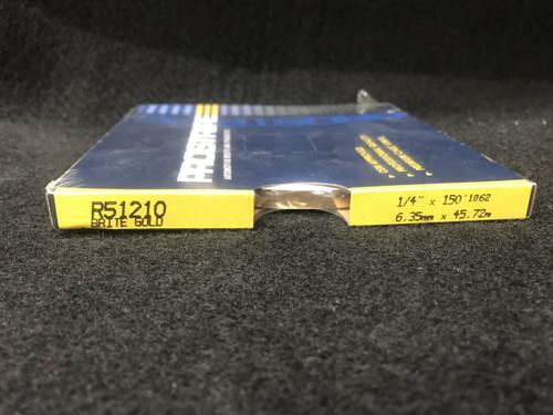 """R51210 Bright Gold Single Stripe 1/4"""" x 150'"""