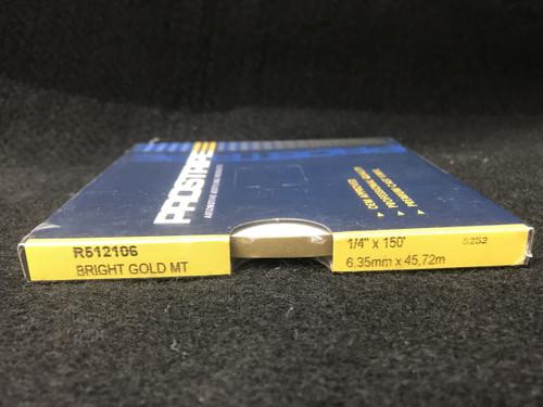 "R512106 Bright Gold Metallic Single Stripe 1/4"" x 150'"