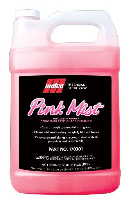 Pink Mist glass cleaner gallon